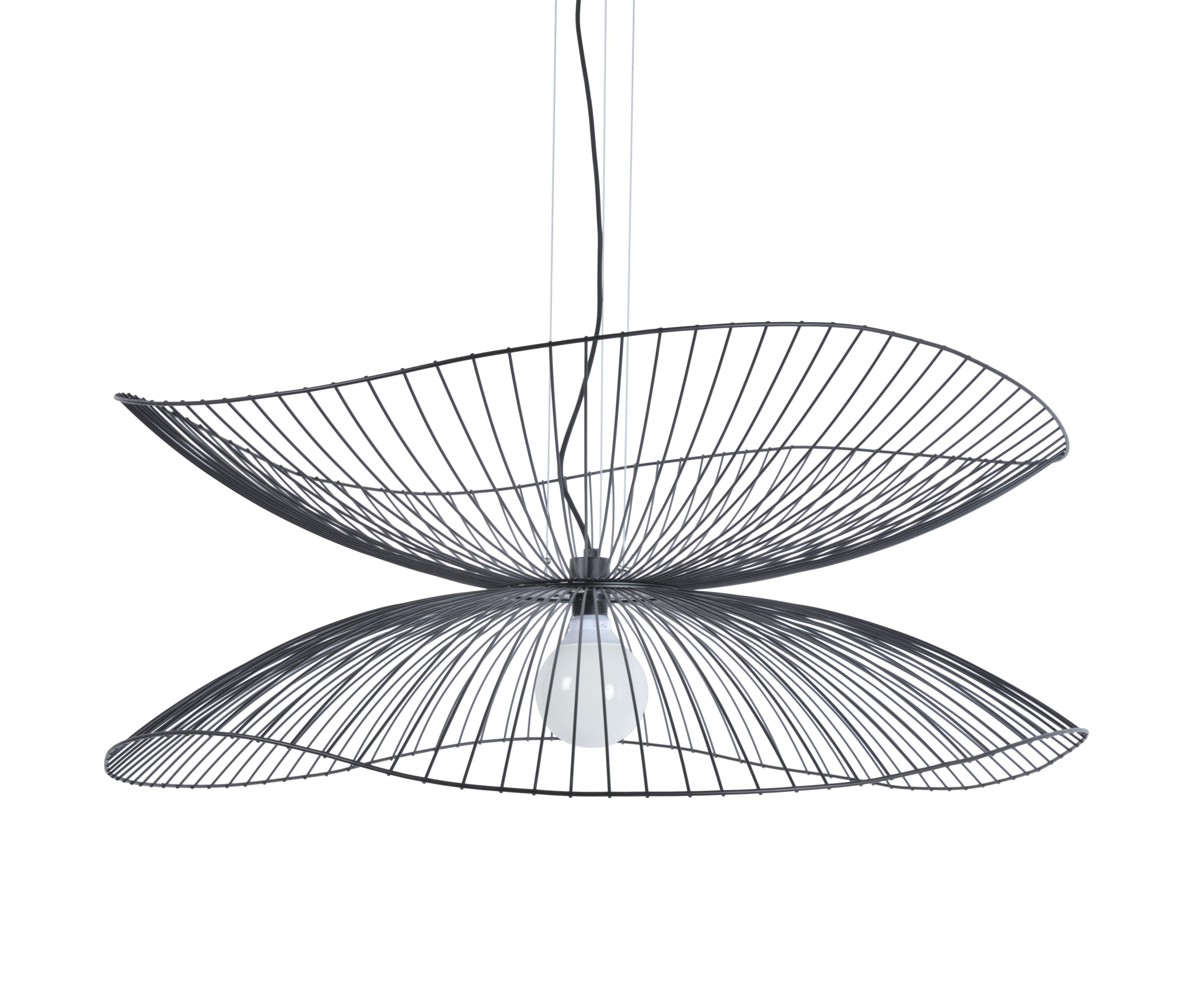Luminaire - Suspensions - Suspension Libellule Large / Ø 100 x H 40 cm - Forestier - Noir - Fils de fer laqués
