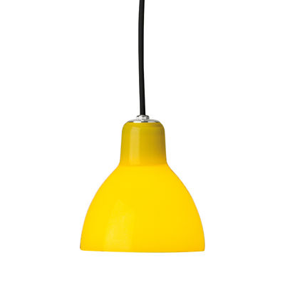 Suspension Luxy H5 /Cordon noir - Rotaliana noir,jaune brillant en matière plastique