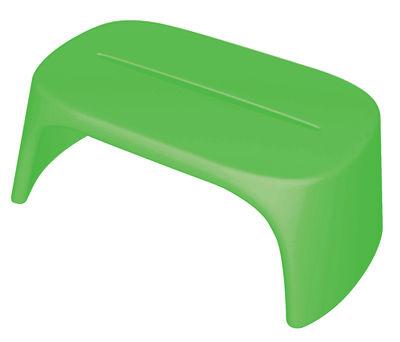 Table basse Amélie / Banc - L 108 cm - Plastique - Slide vert en matière plastique