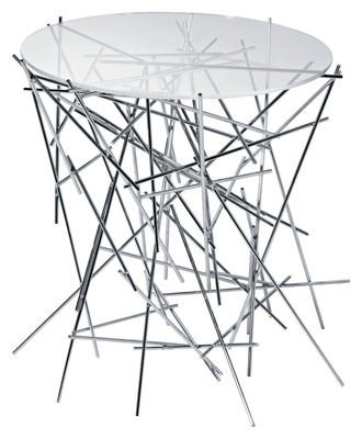 Mobilier - Tables basses - Table basse Blow up - Alessi - Transparent - Inox - Acier inoxydable, Verre