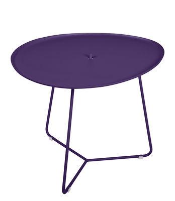 Table basse Cocotte / L 55 x H 43,5 cm - Plateau amovible - Fermob aubergine en métal