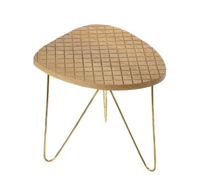 Table basse End / H 36 cm - Serax bois naturel,métal en bois