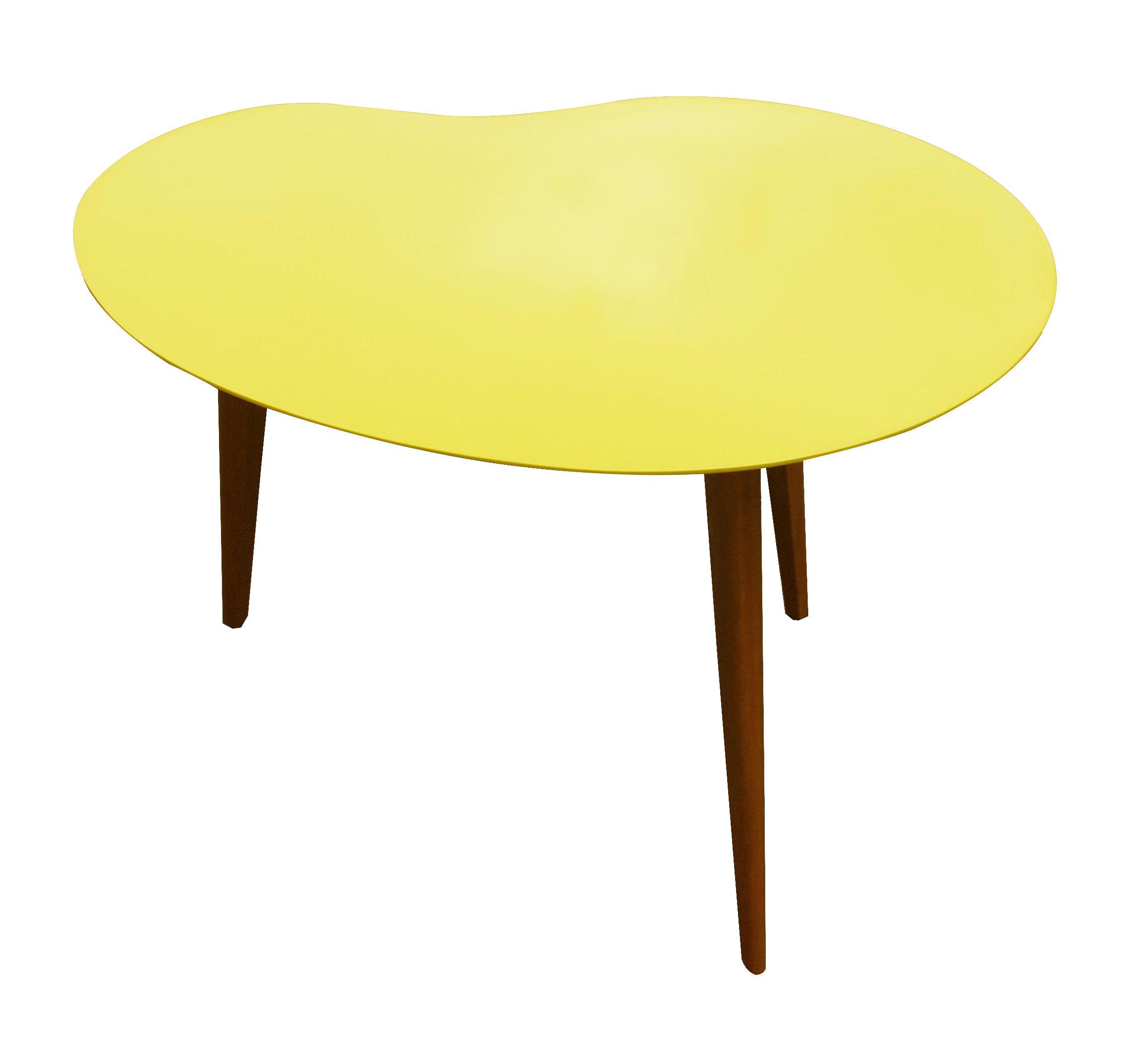 Table basse Lalinde haricot - Small Jaune / Pieds chêne - Sentou ...