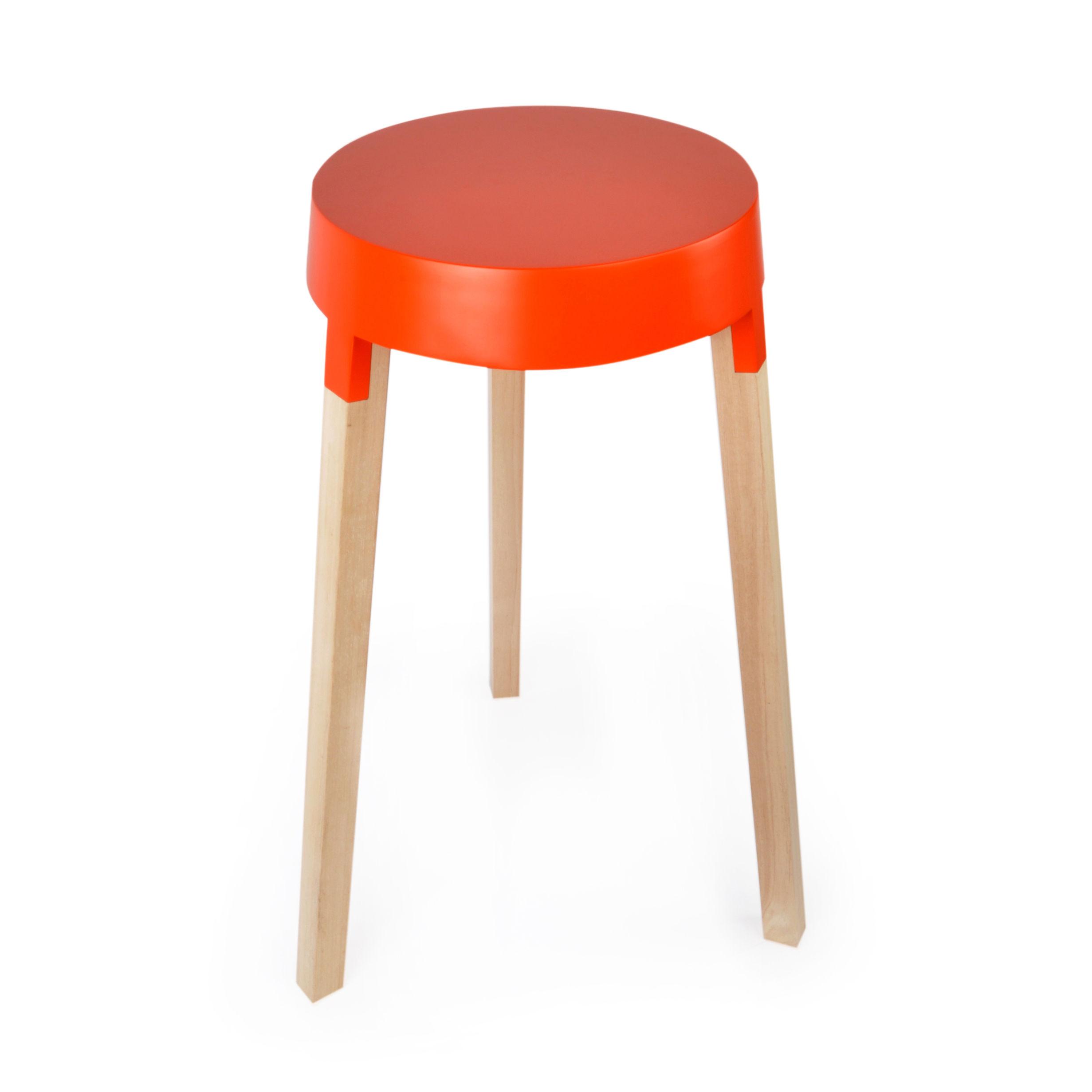 Mobilier - Tables basses - Table d'appoint bXL / Ø 40 x H 70 cm - XL Boom - Orange - Bois d'hévéa