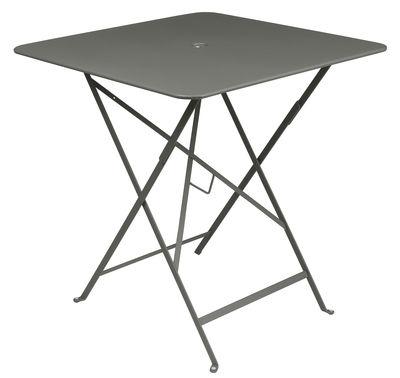 Outdoor - Tables de jardin - Table pliante Bistro / 71 x 71 cm - Trou pour parasol - Fermob - Romarin - Acier laqué