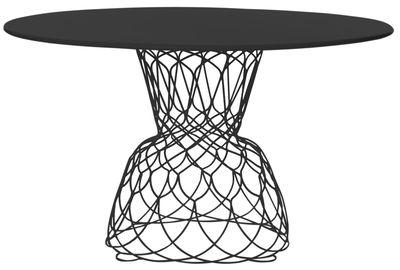 Table ronde Re-trouvé / Ø 130 cm - Emu noir en métal
