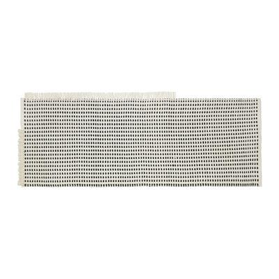 Déco - Tapis - Tapis d'extérieur Way Runner / 70 x 180 cm - Bouteilles en plastique recyclées - Ferm Living - Blanc cassé / Bleu - Polyester recyclé