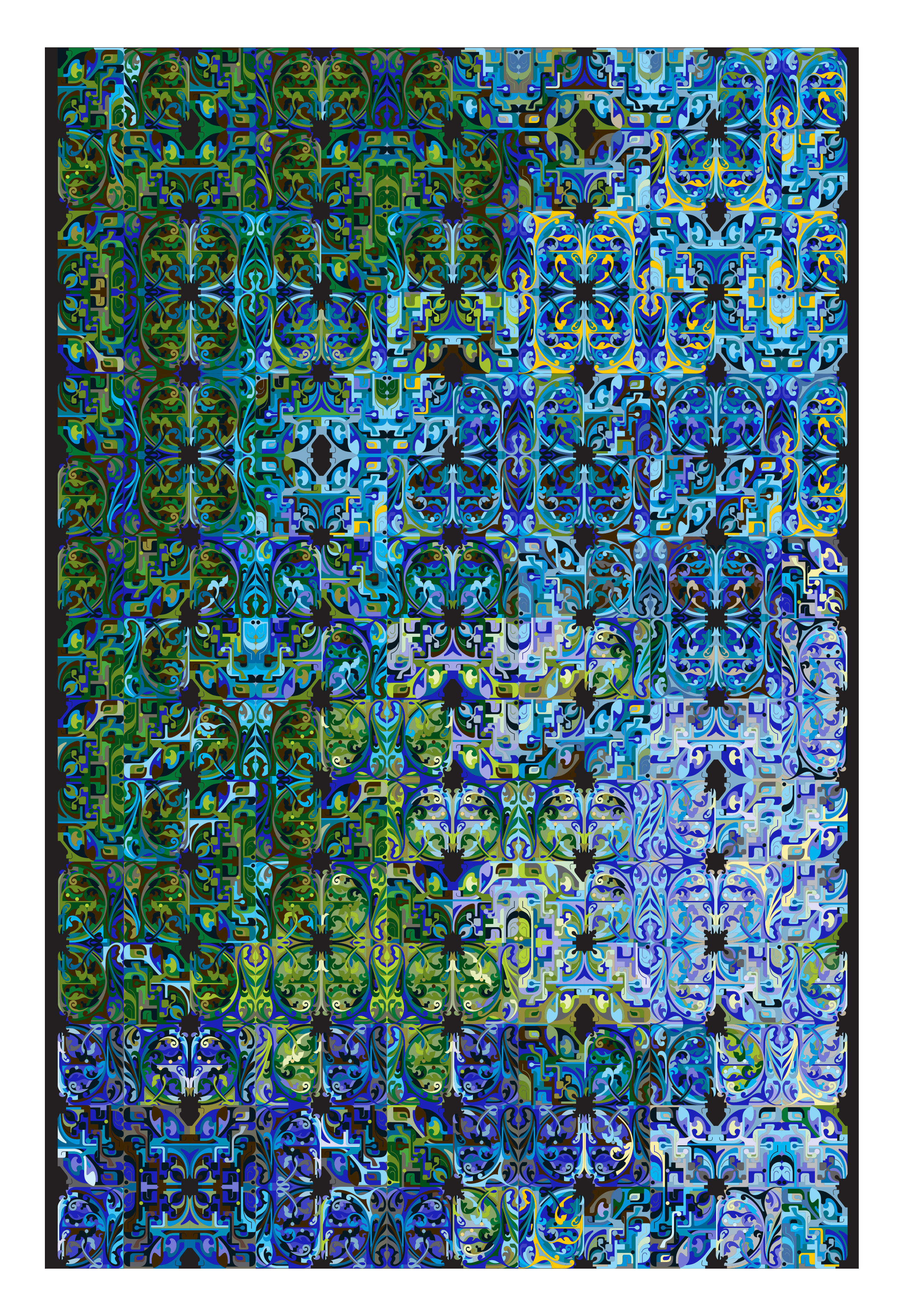 tapis eco alliance 300 x 200 cm tons bleu vert moooi carpets. Black Bedroom Furniture Sets. Home Design Ideas