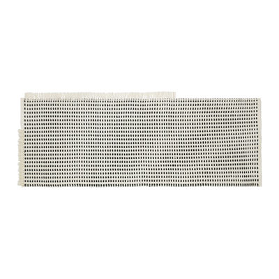 Interni - Tappeti - Tappeto per esterno Way Runner - / 70 x 180 cm - Bottiglie di plastica riciclata di Ferm Living - Bianco sporco  / Blu - Poliestere riciclato