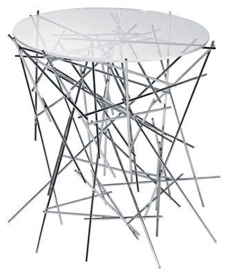 Arredamento - Tavolini  - Tavolino Blow up di Alessi - Trasparente - Inox - Acciaio inossidabile, Vetro