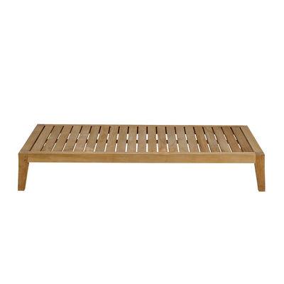 Arredamento - Tavolini  - Tavolino Synthesis - / 85 x 155 cm - Teck di Unopiu - Teack - Teck
