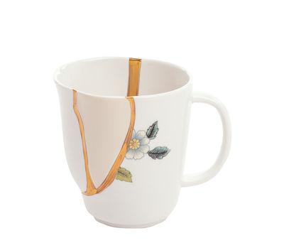 Tavola - Tazze e Boccali - Tazza Kintsugi - / Porcellana & oro fino di Seletti - bianco & oro / Motivi blu - Oro, Porcellana