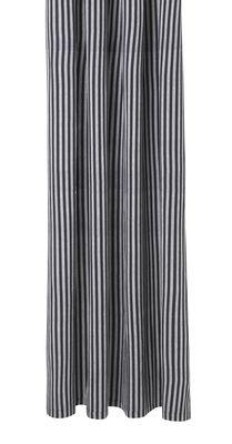 Accessori moda - Accessori bagno - Tenda per doccia Chambray Striped - / 160 x H 205 cm - Cotone di Ferm Living - Strisce / Grigio & Nero - Cotone rivestito