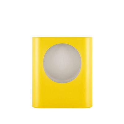 Leuchten - Tischleuchten - Signal Small Tischleuchte / Céramique - Fait main / H 28 cm - raawii - Jaune Freesia - Keramik