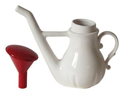 Vase Swan / Arrosoir / Théière - Seletti blanc,rouge en céramique