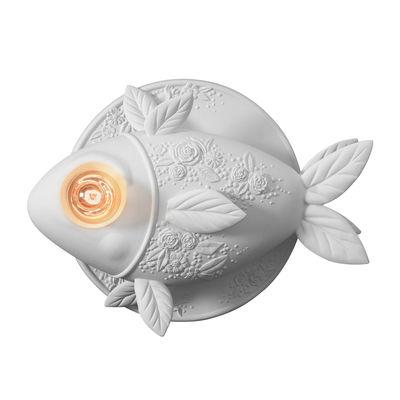 Aprile Wandleuchte / Keramik-Fisch - L 50 cm - Karman - Weiß