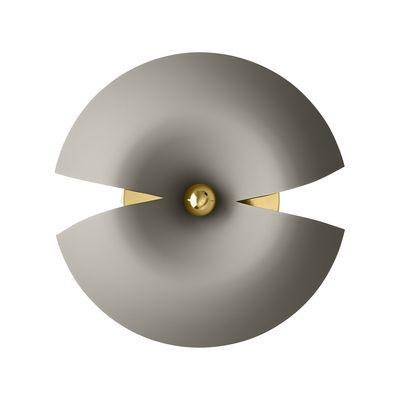 Leuchten - Wandleuchten - Cycnus Wandleuchte Ø45xH18 CM - AYTM - Taupe & goldfarben - Aluminium, Aluminium mit Messingbeschichtung