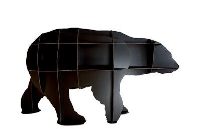 Bibliothèque Junior / L 180 x H 95cm - Ibride noir mat en matière plastique