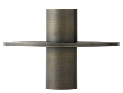 Bougeoir Antipode 03 / Ø 11 cm - Menu laiton bronze en métal