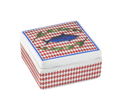 Decoration - Decorative Boxes - Bel Paese - Pesce Box - / Porcelain - 6 x 6 cm by Bitossi Home - Fish - China