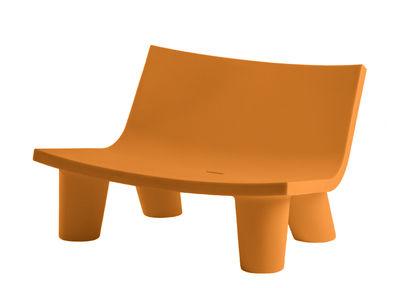 Canapé 2 places Low Lita Love / L 118 cm - Slide orange en matière plastique