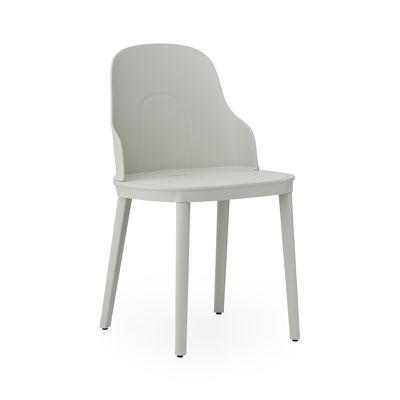 Furniture - Chairs - Allez OUTDOOR Chair by Normann Copenhagen - Grey - Polyamide, Polypropylene