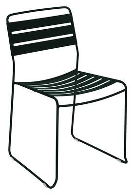 Mobilier - Chaises, fauteuils de salle à manger - Chaise empilable Surprising / Métal - Fermob - Réglisse - Acier