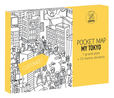 Decoration - Children's Home Accessories - Pocket Map - Tokyo Colouring poster - Tokyo by OMY Design & Play - Tokyo / Black & White - Paper