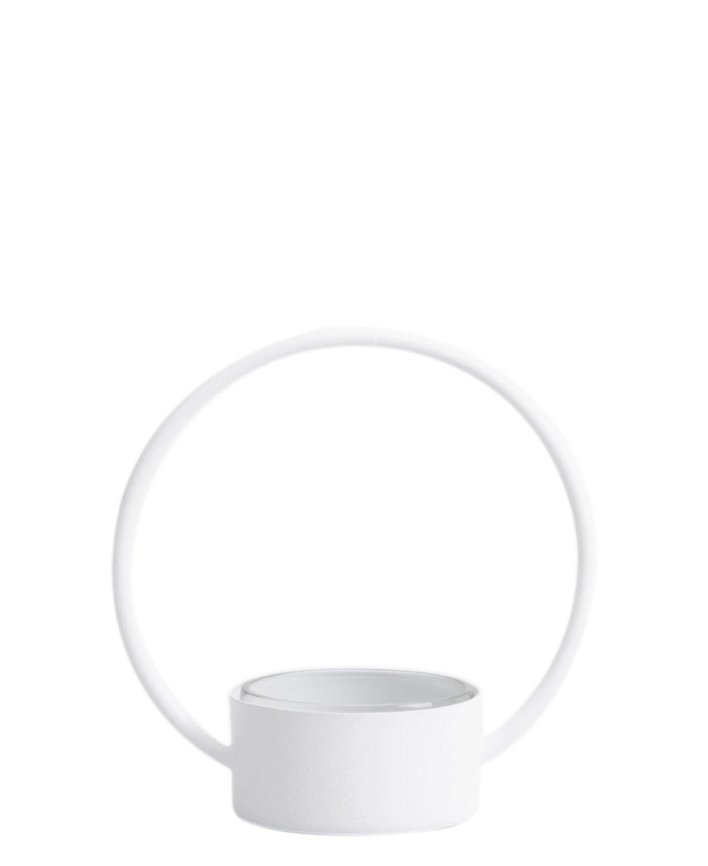 Arts de la table - Corbeilles, centres de table - Corbeille O Small / Corbeille - Ø 16 x H 16 cm - XL Boom - Blanc - Acier  laqué, Verre
