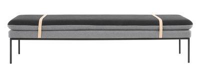 Arredamento - Divani moderni - Daybed Turn / L 190 cm - Ferm Living - Grigio chiaro / Grigio scuro - Cotone, Legno, Metallo