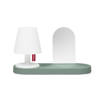 Etagère Edison the Petit Residence / Avec miroir - Pour lampe sans fil Edison the Petit II - Fatboy vert en matière plastique