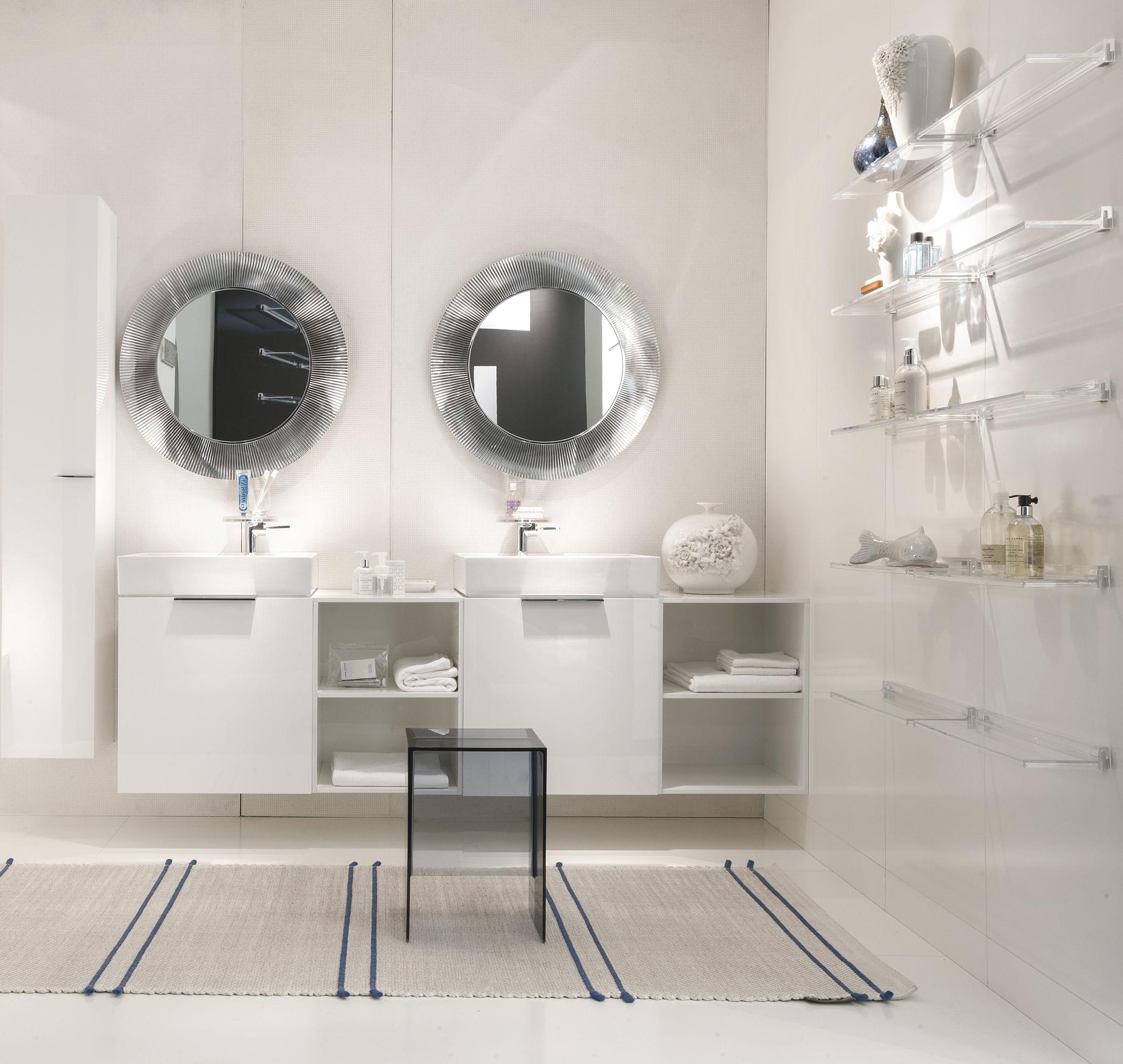 kartell salle de bain ... Mobilier - Etagères u0026 bibliothèques - Etagère Shelfish - L 45 cm -  Kartell - Ambre