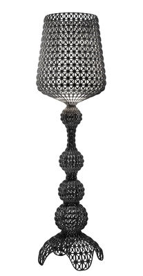Lighting - Floor lamps - Kabuki Outdoor Floor lamp - / LED - For outdoors by Kartell - Opaque black - Thermoplastic technopolymer