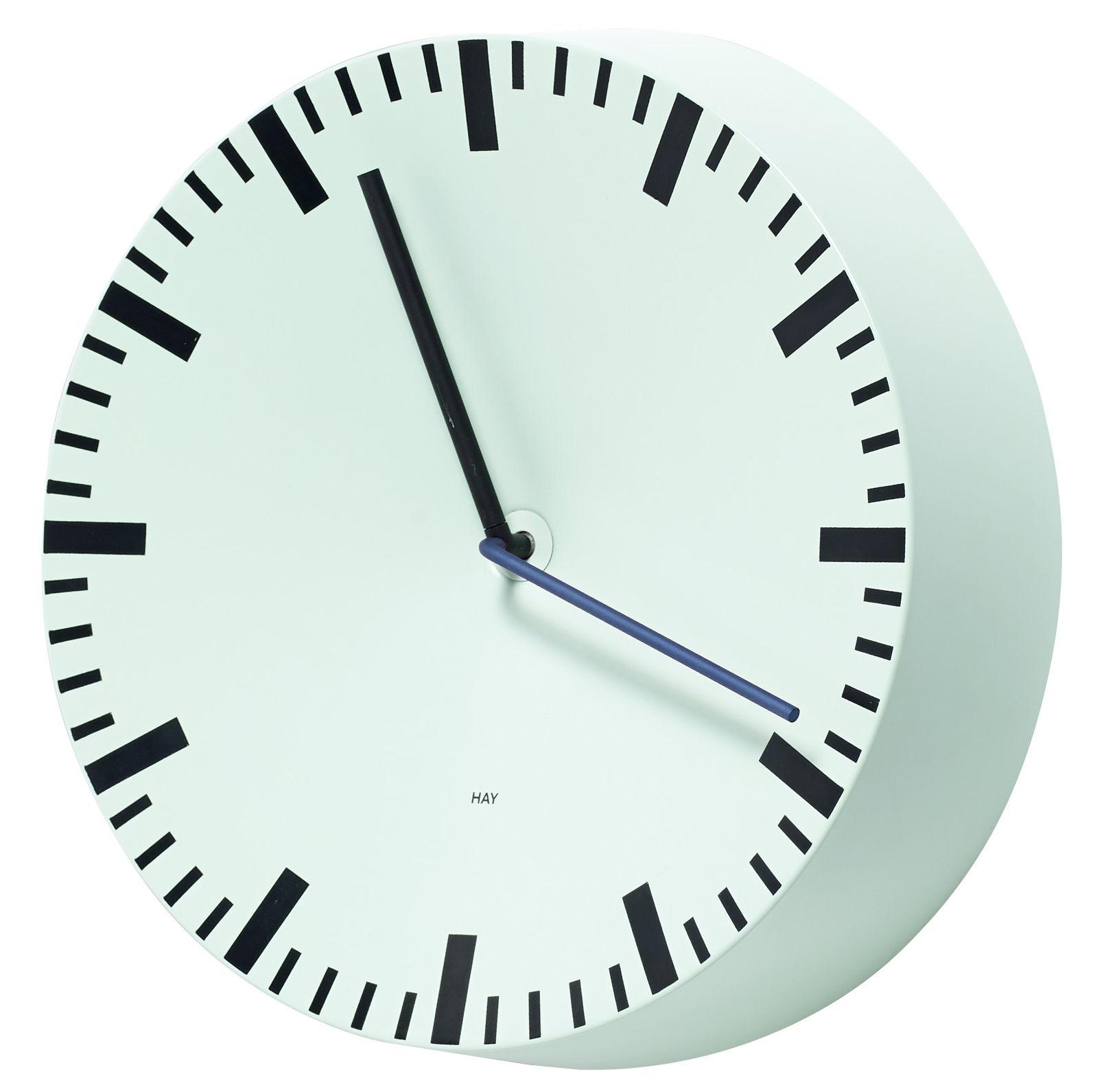 Déco - Horloges  - Horloge murale Analog / Ø 27 cm - Hay - Vert menthe - Aluminium peint