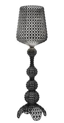 Lampadaire Kabuki Outdoor / LED - Pour l'extérieur - H 165 cm - Kartell noir opaque en matière plastique