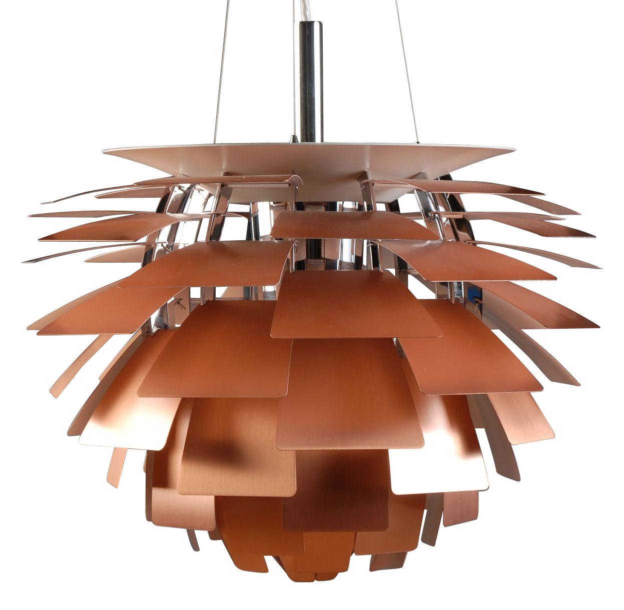Leuchten - Pendelleuchten - PH Artichoke Pendelleuchte Ø 48 cm - Louis Poulsen - Kupfer - Aluminium, Stahl