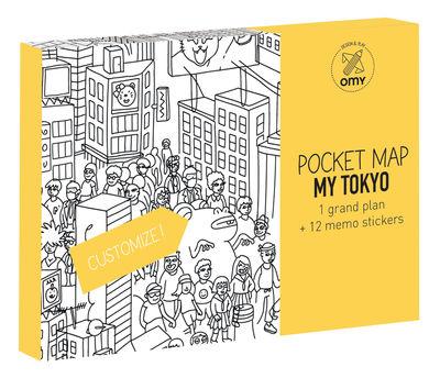 Déco - Pour les enfants - Poster à colorier Pocket Map - Tokyo / 52 x 38 cm - OMY Design & Play - Tokyo - Papier