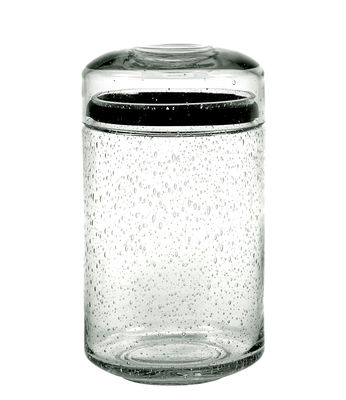 Kitchenware - Kitchen Storage Jars - Pure Pot - / with lid - L Size by Serax - L Size / H 22 cm - Bubbled glass
