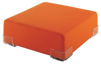 Pouf Plastics - Kartell orange en matière plastique
