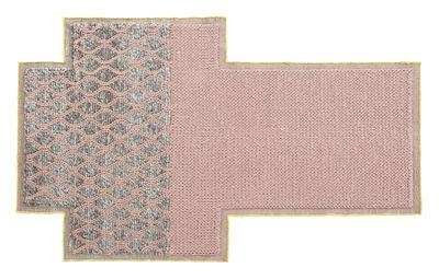 Decoration - Rugs - Mangas Space Rhombus Rug - / 250 x 160 cm by Gan - Pink - Virgin wool