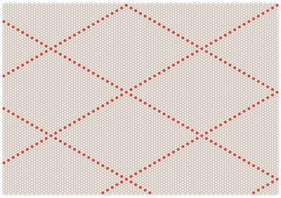 Furniture - Carpets - S&B Dot Rug - 200 x 150 cm by Hay - Poppy Red / Beige - Wool