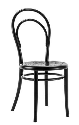 Arredamento - Sedie  - Sedia N° 14 - / seduta traforata - Riedizione 1860 di Wiener GTV Design - Seduta traforata / Nero - Compensato di faggio perforato, Faggio massello curvato