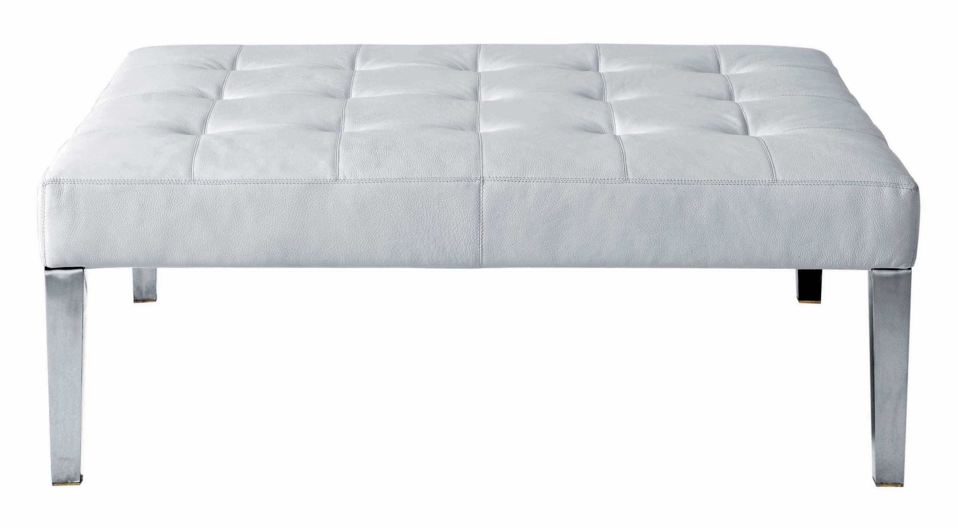 Möbel - Sitzkissen - Monseigneur Sitzkissen - Driade - weißes Leder - Leder, verchromter Stahl