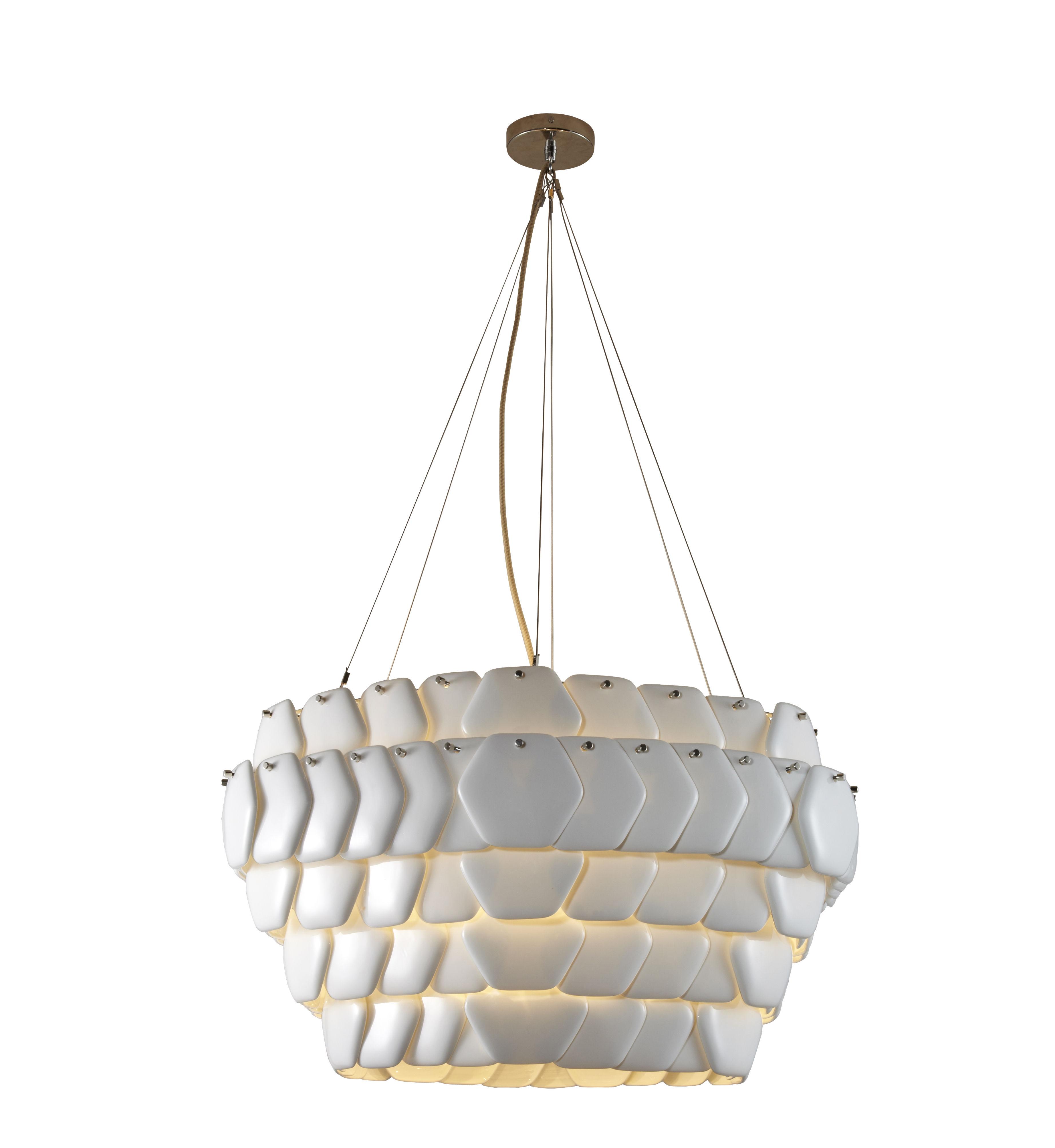 Illuminazione - Lampadari - Sospensione Cranton Hexagonal - / 76 x 72 cm - Porcellana di Original BTC - Esagono L 76 cm / Bianco - Porcellana