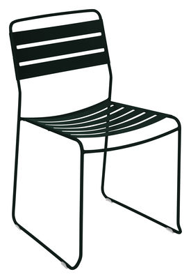 Furniture - Chairs - Surprising Stacking chair - Metal by Fermob - Liquorice - Steel