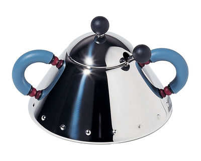 Kitchenware - Sugar Bowls, Milk Pots & Creamers - Graves Sugar bowl by Alessi - Mirror polished - Polyamide, Stainless steel