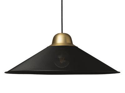 Suspension Aura Large / Métal - Ø 63 x H 22,5 cm - Petite Friture noir,laiton brossé en métal