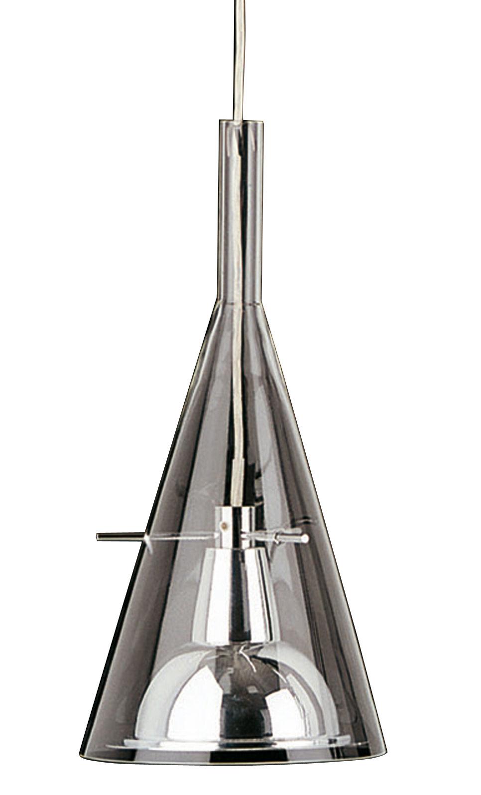 Luminaire - Suspensions - Suspension Flûte 1 - Magnum - Fontana Arte - Verre - Chrome - Aluminium chromé, Verre