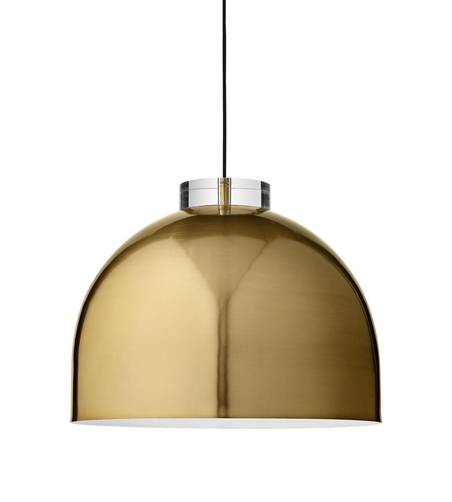 Luminaire - Suspensions - Suspension Luceo Ronde / Large Ø 45 cm - Métal & verre - AYTM - Or - Fer plaqué laiton, Verre