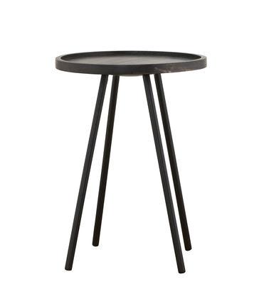 Mobilier - Tables basses - Table basse Juco / Ø 40 x H 55 cm - House Doctor - Ø 40 x H 55 cm / Noir patiné - Bois de manguier teinté, Fer peint